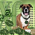St Patricks Day - My Boxer is Me Lucky Charm Print by Renae Laughner