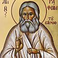 St Seraphim of Sarov Print by Julia Bridget Hayes