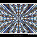 Stained Glass Kaleidoscope 32 Print by Rose Santuci-Sofranko