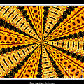 Stained Glass Kaleidoscope 37 Print by Rose Santuci-Sofranko