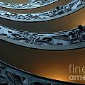 Staircase At The Vatican Print by Bob Christopher