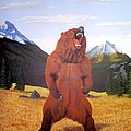 Standing Grizzly  Poster by Mickael Bruce