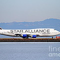 Star Alliance Airlines Jet Airplane At San Francisco International Airport SFO . 7D12199 Print by Wingsdomain Art and Photography