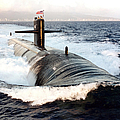 Starboard Bow View Of Attack Submarine Poster by Stocktrek Images
