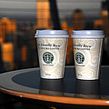 Starbucks at the Top Print by David Lee Thompson