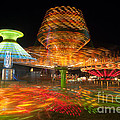 State Fair Rides at Night I Poster by Clarence Holmes