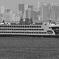 Staten Island Ferry BW16 Poster by Scott Kelley