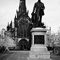 statue of david livingstone outside glasgow cathedral scotland uk Poster by Joe Fox
