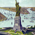 Statue Of Liberty. The Great Bartholdi Print by Everett