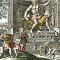 Statue Of Zeus In Ancient Olympia Print by Sheila Terry