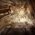 Steampunk - Naval - The escape hatch Poster by Mike Savad