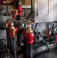 Steampunk - Plumbing - Turn the valve  Print by Mike Savad