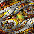 Steampunk - Spiral - Space time continuum Print by Mike Savad