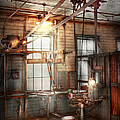 Steampunk - Machinist - The grinding station Poster by Mike Savad