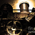 Steampunk Railway Transcontinental Line . Where Steam Is Still King . Gold Version Poster by Wingsdomain Art and Photography