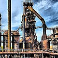 Steel Stacks Bethlehem Pa. Print by DJ Florek