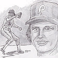 Steve Carlton- Lefty Print by Chris  DelVecchio