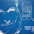 Steve Jobs iPhone Patent Artwork Poster by Nikki Marie Smith