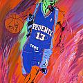 Steve Nash-Vision of Scoring Print by Bill Manson