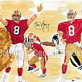 Steve Young - Hall of Fame Poster by George  Brooks