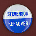 STEVENSON CAMPAIGN BUTTON Poster by Granger