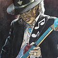 Stevie Ray Vaughan  Poster by Lance Gebhardt