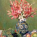 Still life of Fruits and Flowers Print by Pierre Auguste Renoir