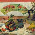 Still Life with a Fan Poster by Paul Gauguin