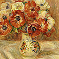 Still Life with Anemones  Poster by Pierre Auguste Renoir