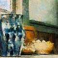 Still Life With Blue Jug Poster by Lois Bryan