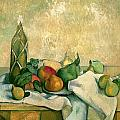 Still Life with Bottle of Liqueur Poster by Paul Cezanne