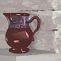 Still Life with Copper Luster Jug Poster by Sarah Countiss
