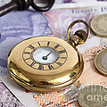 Still Life With Pocket Watch, Key Print by Photo Researchers