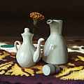 Still life with white jugs Poster by Artyom Ernst
