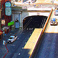Stockton Street Tunnel in Heavy Shadow . Long Version Poster by Wingsdomain Art and Photography
