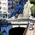 Stockton Street Tunnel in Hilly San Francisco . 7D7499 Poster by Wingsdomain Art and Photography