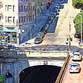 Stockton Street Tunnel Midday Late Summer in San Francisco Print by Wingsdomain Art and Photography