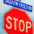 Stop Sign Sketchbook Project Down My Street Print by Irina Sztukowski