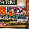 Store - Westfield NJ - The flower stand Print by Mike Savad