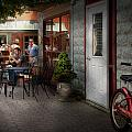 Storefront - Frenchtown NJ - At a quaint Bistro  by Mike Savad