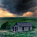 Storm over Abandoned House Poster by Jill Battaglia