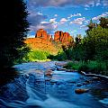 Stormlight on Red Rock Crossing Print by Kerrick James