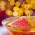 Strawberry and Champagne Poster by Kim Fearheiley