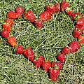 Strawberry heart Poster by Mats Silvan