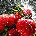 Strawberry Splatter Print by Colin J Williams Photography