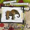 Strength Poster by Linda Woods