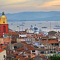St.Tropez at sunset Poster by Elena Elisseeva