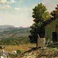 Study of Old Barn in New Hampshire Poster by George Loring Brown