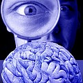 Studying The Brain, Conceptual Image Print by Victor De Schwanberg