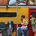 Subway - Lonely Travellers Print by Anne Klar